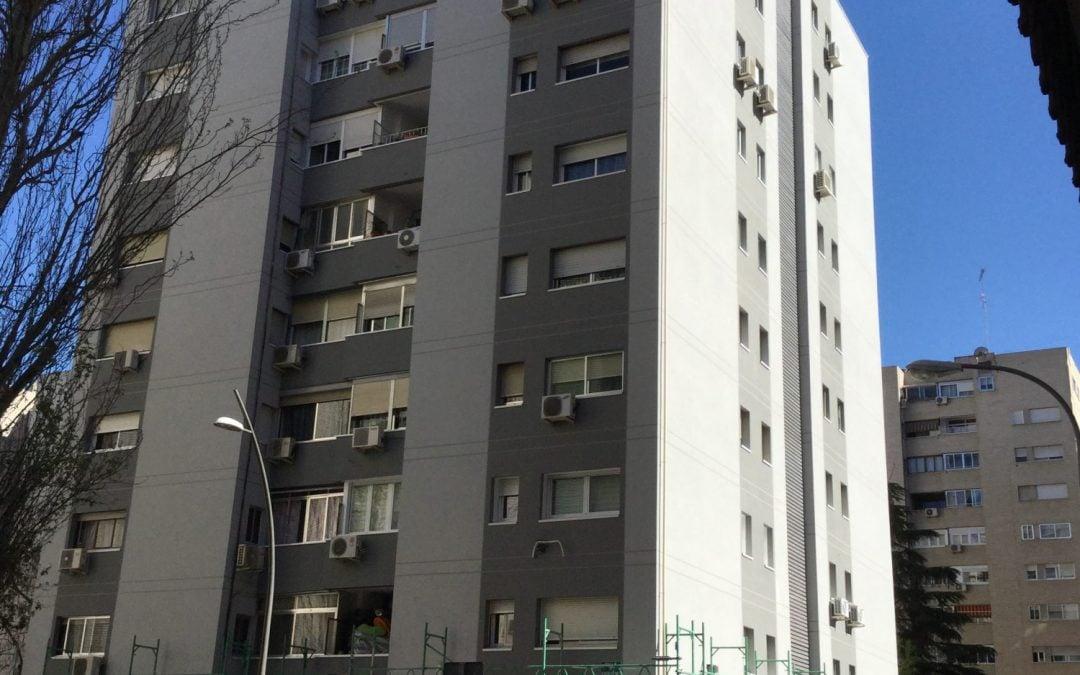 Rehabilitación de fachadas en la Calle Alberto Conti, Mostoles