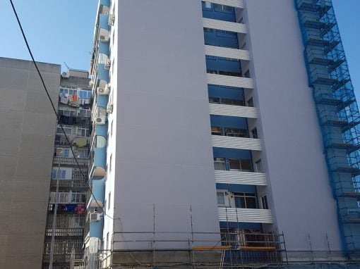Rehabilitación de fachada en Fuenlabrada